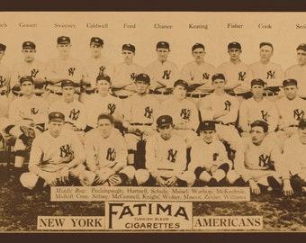 1913 New York Yankees Team Picture - Digitally Remastered Fine Art Print