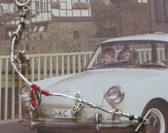 Clear/Red/Metallic VW Bay Window & Beetle Bracelet