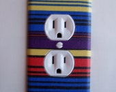 Retro Stripes Outlet Plate, wall decor