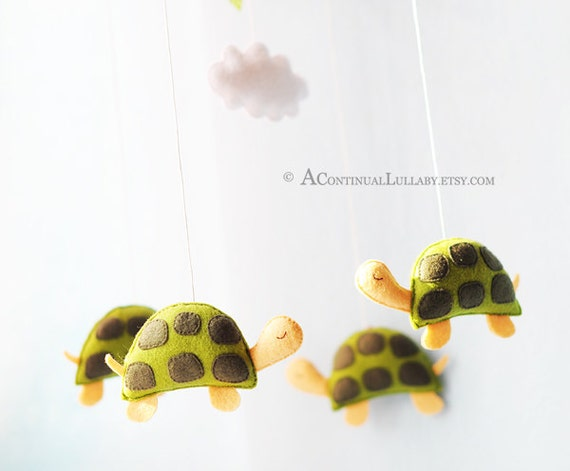 Turtle baby mobile cloud mobile ocean animal nursery sea for Sea animal baby mobile