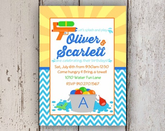 Pool Party, Splash Party, Water Party Invitation
