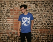 Miscellaneous shapes - Plain Bear handmade screen print American Apparel t-shirt XS/S/M/L/XL
