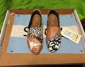University of Texas hand painted Toms Shoes