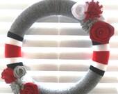 OSU wreath - customized sports wreath - Ohio State Buckeyes or your team