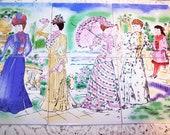 Ceramic Tiles Victorian Women Theme Image 6 Pieces Incredible Romantic Victorian Cottage Chic Tile BackSplash or Table Top Etc
