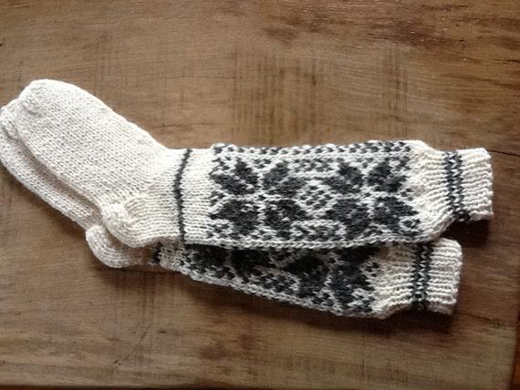 SALE Handknit Knee-high  women woollen socks pattern