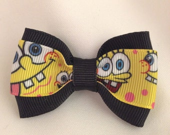 Sponge Bob Revisted Hair Bow - 2 inches
