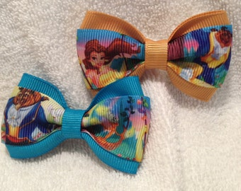 Beauty and the Beast Hair Bow - 2 inches