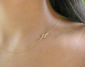 Star of David necklace - Star necklace - Gold necklace - Gold star of david - Delicate gold star necklace - Jewish jewelry - Star of David