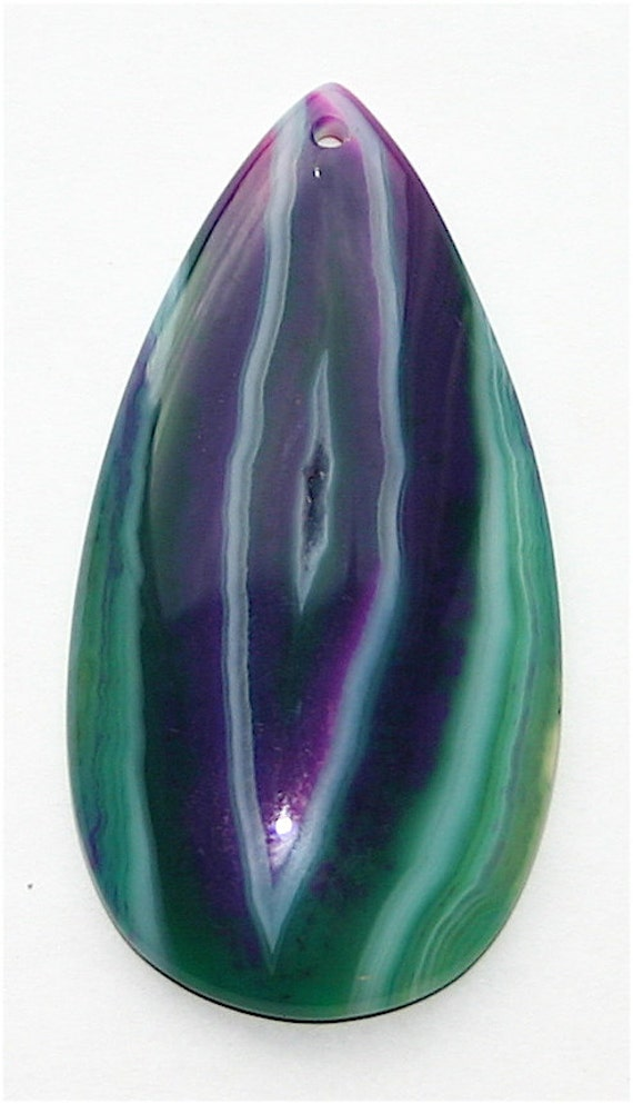 What Color Is Onyx Stone : Geode multi color onyx agate pendant stone