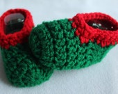 Infant and Toddler Christmas Slipper Socks - Red, Green Slippers - Holiday Slippers - Stocking Stuffer - Christmas Family Photos