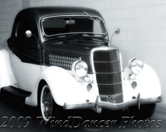 Vintage Ford Coupe - Classic Car Photo - 1935 Ford - Old Car Photo - Gift Idea for Guys - Retro - Americana - Hot Rod - Hot Rod Photo -
