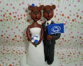 Personalized Nittany Lion Wedding Cake Topper