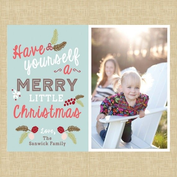 Items Similar To Holiday Photo CARD- Have Yourself A Merry