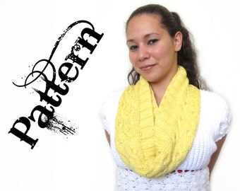 Knitting Pattern - One Skein Ostrich Cable Cowl
