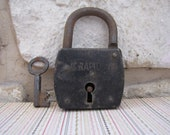 French Antique Lock and Key