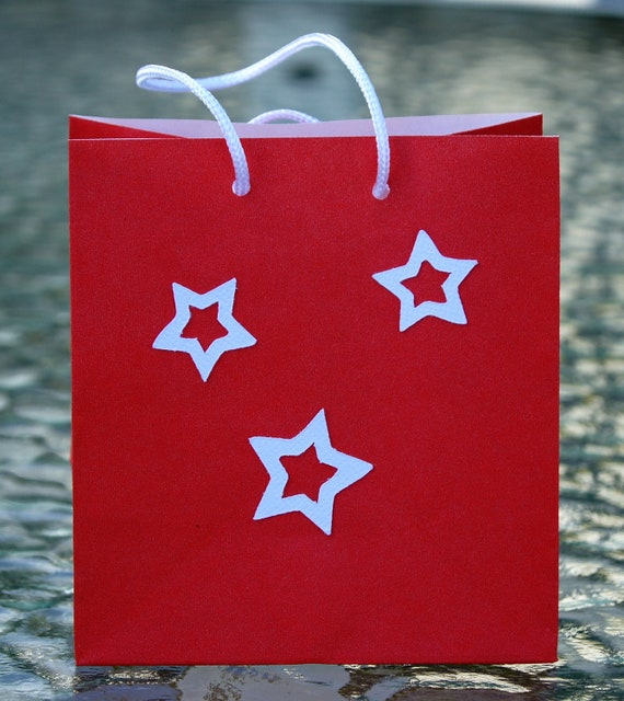 Small Star Party Gift Bags Set of Three