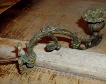 SALE Rare Antique Italian Wall Candle Holder, Sconce, Balustrade Candle Holder