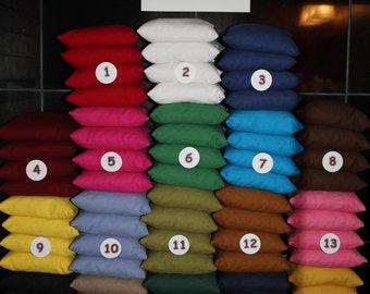 Cornhole Bean Bags - 8 Top Quality Custom Handmade ACA Regulation Size ...Pick 2 Colors