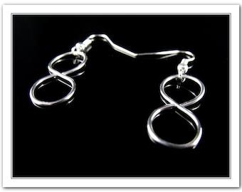 Silver Plated Infinity 8 formed  Dangle Earrings