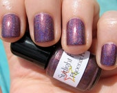 Phoenix Fire Purple Holographic Duochrome Color Shifting Holo Indie Nail Lacquer Starlight Polish