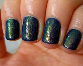 Dragon Duochrome Color Shifting Top Coat Gold to Green Indie Nail Lacquer Starlight Polish Liquid Euphoria