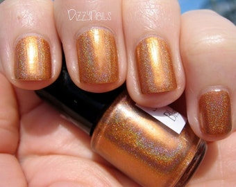 Blaze Crystal Orange Holographic Custom Nail Polish Holo 15mL