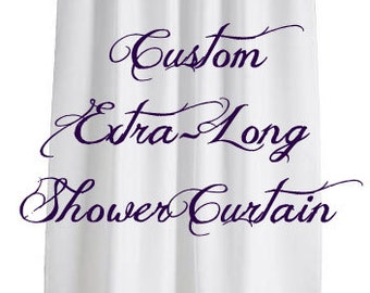 Personalized EXTRA LONG Shower Curtain