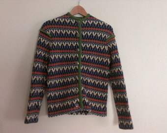 60s vintage women's small Shetland cardigan