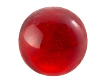24 Red Glass Marbles, 1950's Czech, 13mm Large Round Solid Ruby Siam Marbles, Glass Ball, Steampunk Mixed Media Collage Parts, Destash Lot