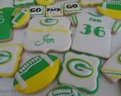 1 Dozen NFL Green Bay Packers Cookies for Shana