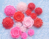 15pcs Assorted Pinks and Reds Cabochon Sampler Pack - Australia