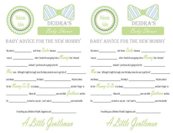 Baby Shower Mad Libs And Wishes For The Mom To Be Little