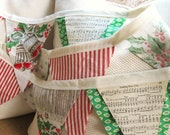 Vintage Christmas Bunting with Hymns (multi)