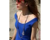 Anchor metal necklace