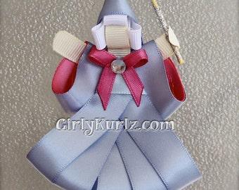 Fairy Godmother Hair Clip, Fairy Godmother Ribbon Sculpture Hair Clip, Princess Hair Clip, Cinderella Hair Bow, Cinderella Hair Clip