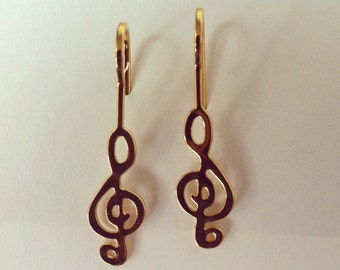 24K Gold Plated Sol Key Earrings