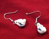Chipped cup earrings