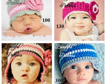 Crochet Hat Pattern 3 For 13.50 Crochet Patterns PDF Sale Pack Combo Deal - Right to Sell Finished Items
