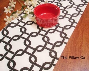 "Elegant Black Table Runner - Wedding - 13"" X 72"" Table Cloth - Decorative  Table runner   ""Gotcha Twill """
