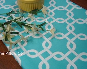 "Blue Table Runner - Wedding - 13"" X 84"" Table Cloth - Decorative  Table Lovely Girly Blue "" Gotcha"