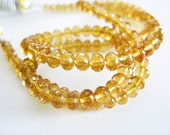Citrine Rondelles, AAA Gems, Micro Faceted, aaagems, 4-4.85mm, Full Strand, 16 inches