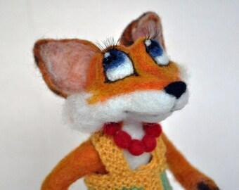 """Needle felted fox """"Lisa Patrikeevna"""""""