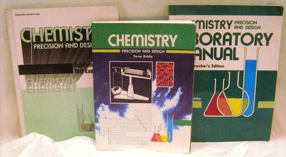 Abeka Chemistry Textbook, Chemistry Teacher Guide, video manual 11th Grade