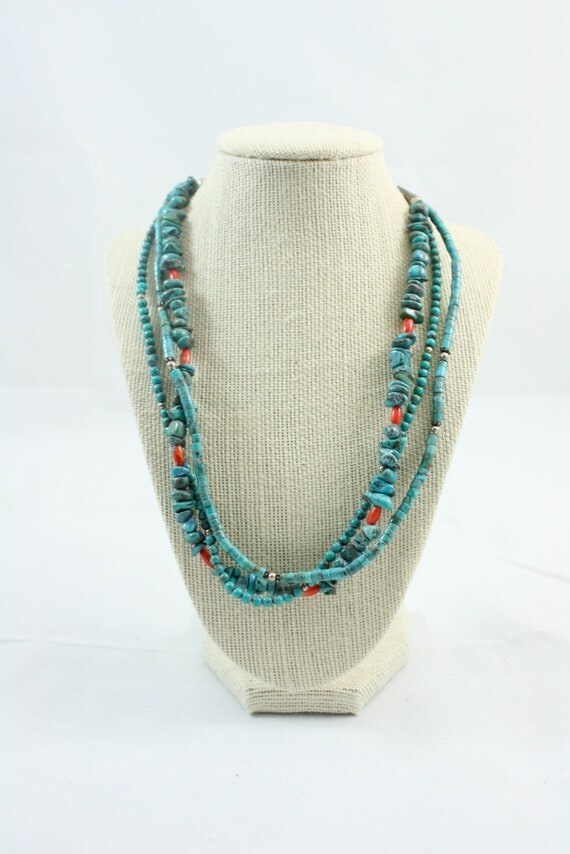 Native american necklace turquoise silver necklace for Turquoise jewelry taos new mexico