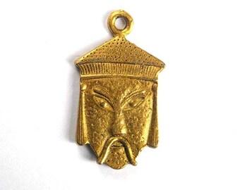 1 Brass Asian Man Charm - 21-18-5