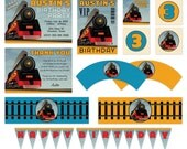 DIY Printable Train Birthday Party Pack