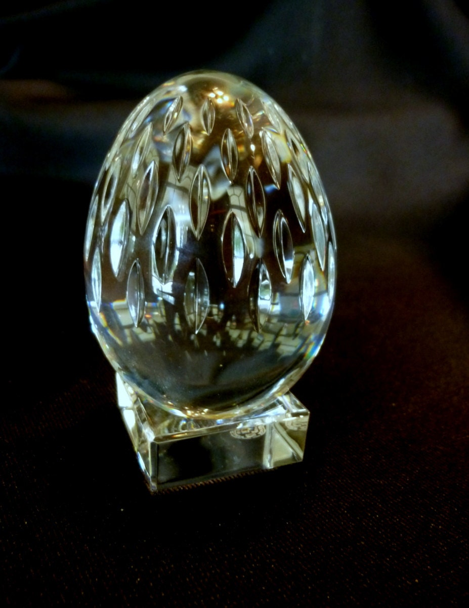 Baccarat Crystal Egg with Stand