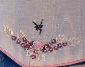 Vest Plus Size Reversible, ribbon embroidery