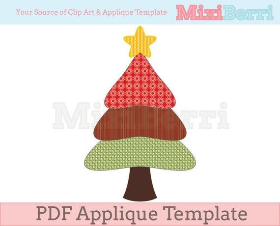 Items Similar To Three Tier Christmas Tree Applique